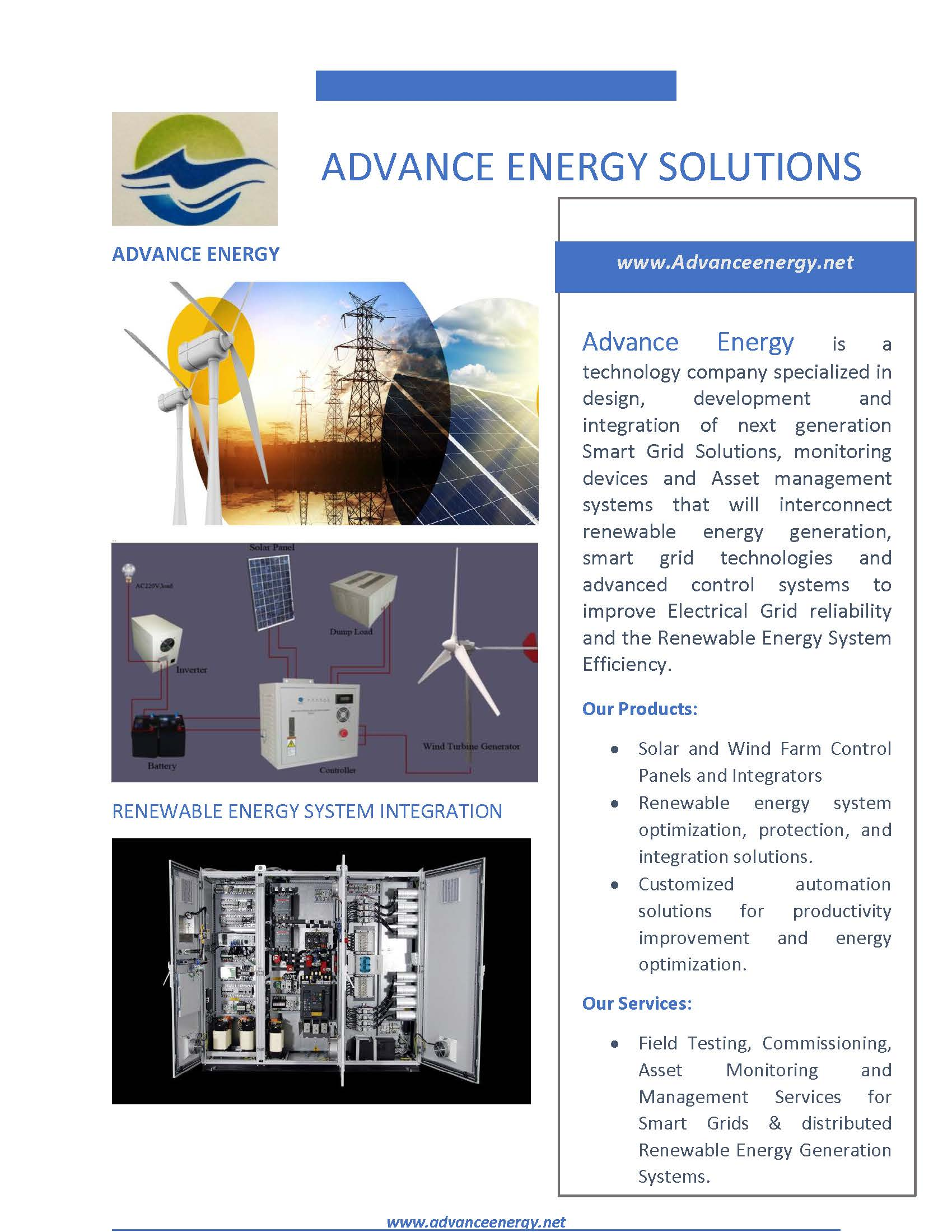 Product Catalogue Advance Energy Solutions